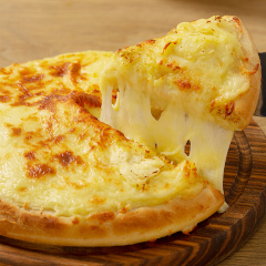 榴芒一刻 榴莲披萨底半成品 饼皮胚马苏里拉芝士酱烘焙套餐原材料 榴莲披萨半成品240g*3盒