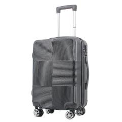 富美拉拉杆箱万向轮静音行李箱时尚格纹旅行箱20寸登机箱D-FML-X102