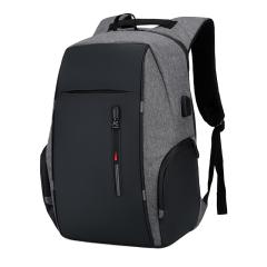 Cavoni Kenil 双肩包男商务多功能电脑 背包usb充电大容量防盗背包 灰色D-K-128