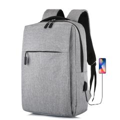 Cavoni Kenil 时尚简约背包休闲商务电脑男笔记本双肩包纯色学生背包 灰色D-K-006