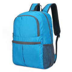 Cavoni Kenil  防水折叠式旅行收纳包旅游收纳袋纯色双肩包时尚 背包 天蓝色D-K-026