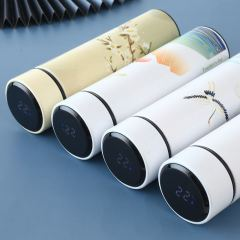 富美拉新款创意国潮中国风保温杯情侣水杯智能测温礼品杯子B-FML-B102 500ml 日出