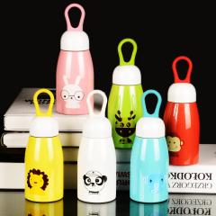 沃盖特提环牛奶杯 不锈钢保温杯卡通创意儿童保温水 杯B-WGT-J509 280ml 鹿