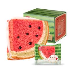 a1零食研究所西瓜吐司480g*2箱 网红面包懒人早餐休闲蛋糕 西瓜味吐司480g*2箱