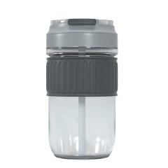 非物 玻璃杯 手持咖啡杯吸管杯480ml FW-803 颜色 黄色