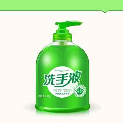 BIOAQUA芦荟护理洗手液泡沫清洁型补水保湿滋润清香洗手液 绿色 500ml