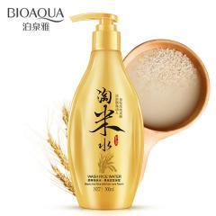 BIOAQUA原粹淘米水黑米润发米浆洗发乳滋润保湿洗涤用品洗发水 米白色 300ml