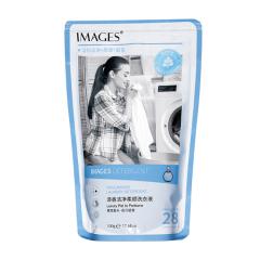 形象美清香洁净柔顺洗衣液衣物护理洁净护手易清洗袋装洗衣液 白色 500g
