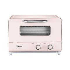 美的(Midea)家用小烤箱 双石英管匀热 12L 多功能烘烤 迷你烤箱PT120A0