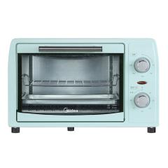 美的Midea 家用小烤箱 上下石英管均匀烘焙 12L 多功能迷你烤箱PT12B0 淡雅绿