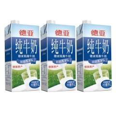 德亚 低脂牛奶1L*3