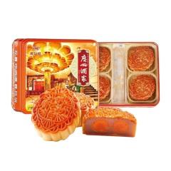 广州酒家 双黄纯白莲蓉月饼 750g