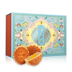 广州酒家 低糖蛋黄月饼礼盒 540g