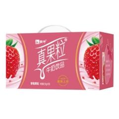 蒙牛真果粒草莓味250g*12盒整箱盒装官方正品 蒙牛真果粒草莓味12盒42元/1提