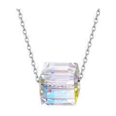 veecans极光水晶纯银项链女锁骨链施华洛世奇元素生日礼物送女友