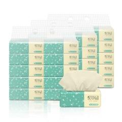 悦竹风语竹浆本色抽纸家用卫生面巾纸不漂白餐巾纸CX-10 3层80抽10包