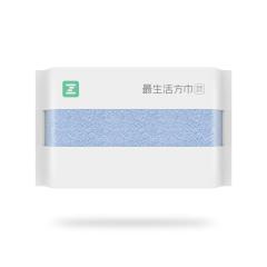 最生活(a-life)新疆长绒棉方巾   纯棉  3条装 白/绿/蓝 34*34cm/52g/条*3 白/绿/蓝