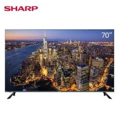 夏普(SHARP)70X7PLUS 70英寸全面屏4K超高清日本原装K歌音乐电视机 2G+32G