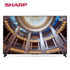 夏普(SHARP)4T-C86E7CA 86英寸4K超高清HDR智能BT蓝牙网络2GB+32G