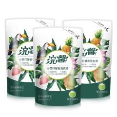 蓝漂 浣馨果香洗衣液450g*3袋 香味持久家用清洗液家用实惠装 白色 450g*3袋