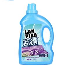 蓝漂 洗衣液2KG/瓶 单瓶四斤装高效速洁深层洁净持久留香家用装 白色 2kg/瓶