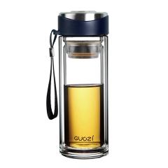 果兹 保温杯 悦动双层杯 高硼硅玻璃杯