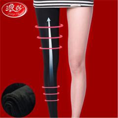 浪莎12000D压力瘦长腿裤 黑色 均码【适合40-65KG】