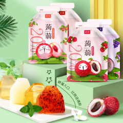 诺梵蒟蒻果冻120g*4袋 水蜜桃
